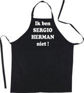 Mijncadeautje Schort - Ik ben Sergio Herman niet - mooie - grappige - leuke keukenschort - zwart