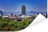 Uitzicht op de gebouwen in Mexico-stad Poster 180x120 cm - Foto print op Poster (wanddecoratie woonkamer / slaapkamer) XXL / Groot formaat!