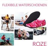 Erg comfortabele en flexibele Waterschoenen voor Dames en Heren Outdoor Strand Zwemmen Aqua Sokken Sneldrogende Blootsvoets Schoenen Surfen Yoga Zwembad  - Roze - maat  S 36-37