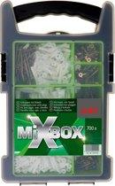 700 delige assortimentsdoos schroeven en universeel pluggen. Het ideale setje voor alle kleine klusjes in huis. MIXBOX