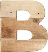 Houten Letter -B- Sloophout blank