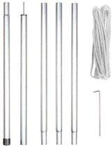 Perel GSSK1 mast voor zonnezeil - 2.5m - met scheerlijn