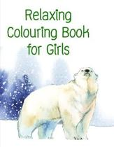 Relaxing Colouring Book for Girls: Funny Animals Coloring Pages for Children, Preschool, Kindergarten age 3-5