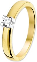 The Jewelry Collection Ring Diamant 0.10ct H Si - Bicolor Goud