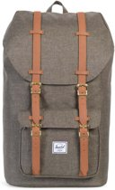 Herschel Supply Co. Little America Rugzak - Canteen Crosshatch / Tan Synthetic Leather