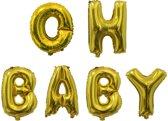 Ballonnen set Oh Baby Goud +/- 40 cm
