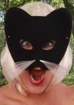 Oogmasker halfmasker kat zwart