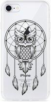 iPhone 8 Hoesje Dream Owl Mandala Black