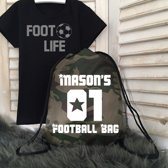 Tasje Naam football bag.