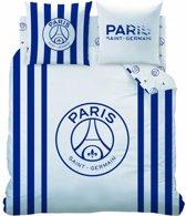 Paris Saint Germain Rayures - Dekbedovertrek - Lits Jumeaux - 240 x 220 cm - Wit
