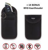 Autosleutel RFID Anti-Diefstal Beschermhoesje (1X) + 1 RFID blocking sleeve - Keyless Entry Signaal Blokkerende Beschermhoes - Anti Diefstal & Inbraak Hoesje - Qwality4u