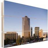 Het centrum van het Amerikaanse Tucson Vurenhout met planken 30x20 cm - klein - Foto print op Hout (Wanddecoratie)