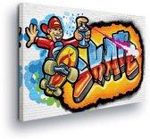 Graffiti Skate Canvas Print 100cm x 75cm