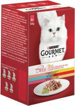 Gourmet Mon Petit Duo - Vis & Vlees - Kattenvoer - 6 x 50 g