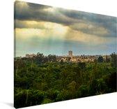 Zonnestralen schijnen in het Zuid-Amerikaanse Brasília Canvas 90x60 cm - Foto print op Canvas schilderij (Wanddecoratie woonkamer / slaapkamer)