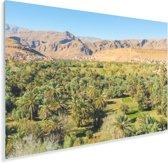 De beroemde oase in het midden van de Erg Chebbi in Marokko Plexiglas 120x80 cm - Foto print op Glas (Plexiglas wanddecoratie)