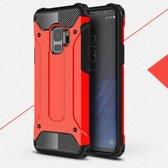 Samsung Galaxy S9 Armor Hybrid Case - Rood