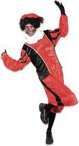 Roetveeg Pieten kostuum rood/zwart voor volwassenen M (38/50)