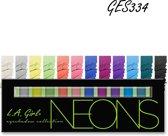 LA Girl Pro Beauty Brick Eyeshadow Palette Neon GES334