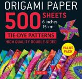 Origami Paper 500 Sheets Tie-Dye Patterns 6'' (15 CM): Tuttle Origami Paper: High-Quality Double-Sided Origami Sheets Printed with 12 Different Designs