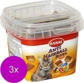 Sanal Anti-Hairball Bites - Kattensnack - 3 x 75 g