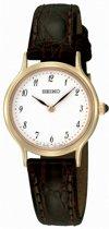Seiko SFQ828P1 horloge dames - bruin - edelstaal doubl�