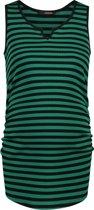 Supermom Zwangerschapstopje Base Stripe - Cadmium Green Stripe - Maat XS