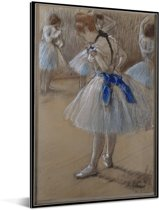 Dancer - Schilderij van Edgar Degas Aluminium 60x90 cm - Foto print op Aluminium (metaal wanddecoratie)