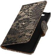 Huawei Nexus 6P Zwart | Lace bookstyle / book case/ wallet case Hoes  | WN™