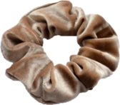 Schrunchie - Haarband/wokkel Beige Velvet - Officiele Mr. Pefe