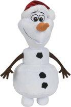 Frozen Olaf knuffel met kerstmuts - 20 cm - Super zacht knuffel