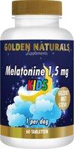 Golden Naturals Melatonine 1,5 mg KIDS (60 smelttabletten)