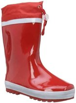Playshoes Regenlaarzen met trekkoord Kinderen - Rood - Maat 20-21