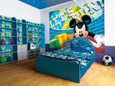 Fotobehang Disney, Mickey Mouse | Blauw, Groen | 152,5x104cm