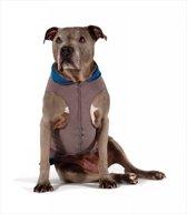 GoldPaw - Stretch Dubbel Fleece Pullover hondenjas - Grijs/Blauw - maat 22 - grote maten