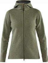 Fjallraven - High coast wool hoodie - Dames - Green - L