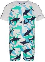Snapper Rock UV werend Zwempakje Kinderen korte mouwen Haai - Blauw - Maat 74-80