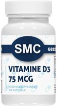VITAMINE D3 75 MCG Voedingssupplement (100 softgels)  - Productcode: ®SMC-218.100