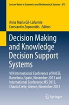Decision Making and Knowledge Decision Support Systems
