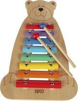 Tidlo Xylofoon muziekbeer met 2 sticks.