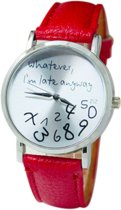 Whatever I'm Late Anyway Horloge - Rood