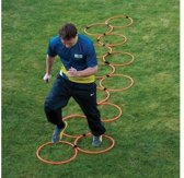 Trainingsladder - Ringen - Fitness agility ladder - Oranje
