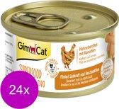Gimcat Superfood Shinycat Duo 70 g - Kattenvoer - 24 x Kipfilet&Wortel