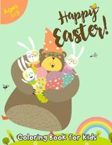 Happy Easter Coloring Book for Kids Ages 1-3