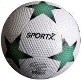 Sportx Bal Rubber Star Wit Groen