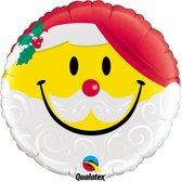 Folieballon Smiley Christmas 46cm (zonder helium)