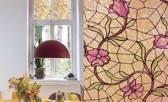 Patifix Glas In Lood Bloemen Raamfolie - Zelfklevend - 45x200 Cm