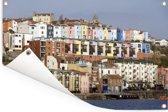 Huizen langs het water in het Engelse Bristol Tuinposter 120x80 cm - Tuindoek / Buitencanvas / Schilderijen voor buiten (tuin decoratie)