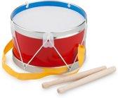 New Classic Toys - Trommel -  Ø 17 cm - Rood - Inclusief 2 Drumstokken en een Koord