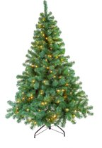 Kerstboom Excellent Trees LED Stavanger Green 180 cm met verlichting - Luxe uitvoering - 350 Lampjes